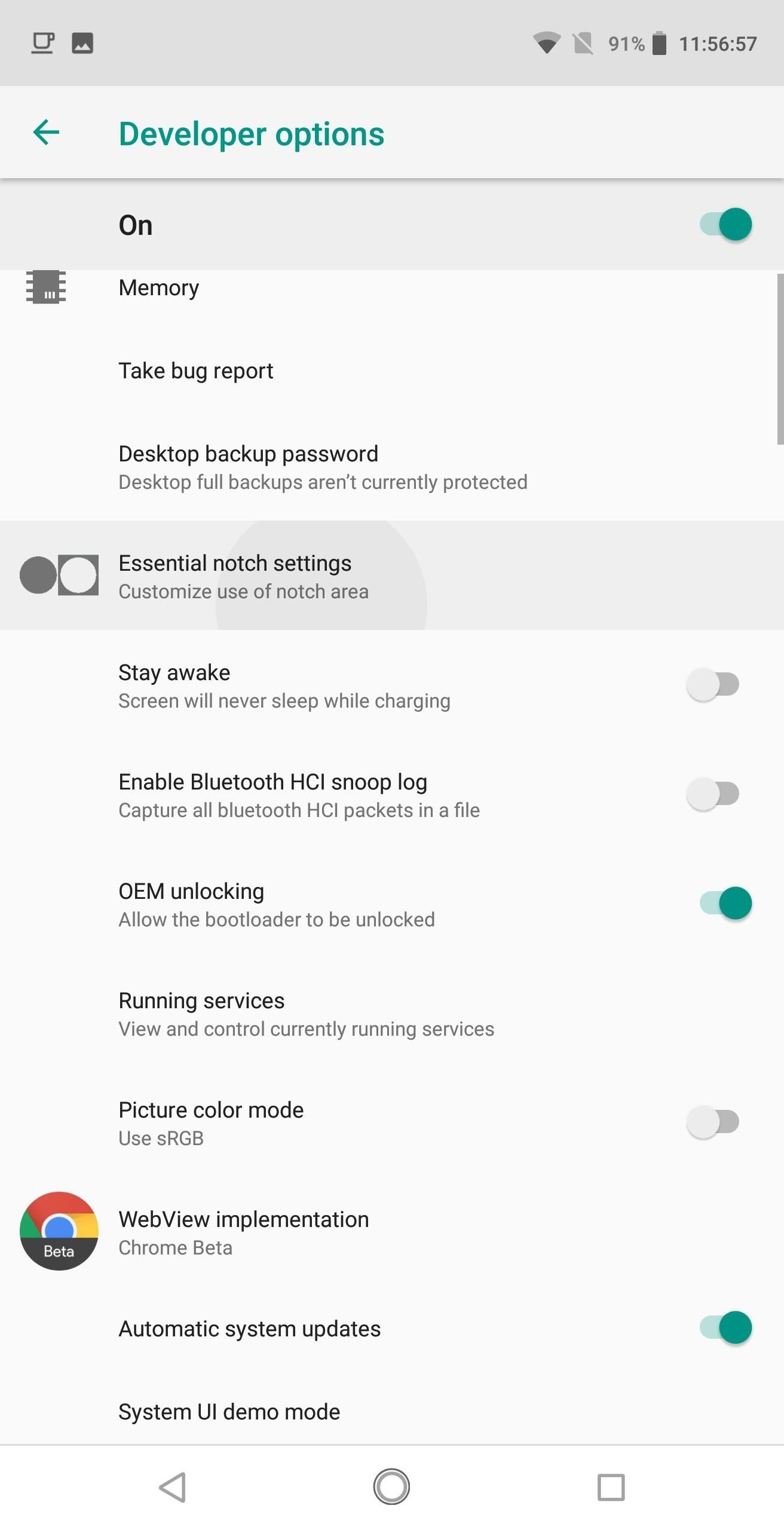 Make Apps Use the Entire Screen on Your Essential Phone