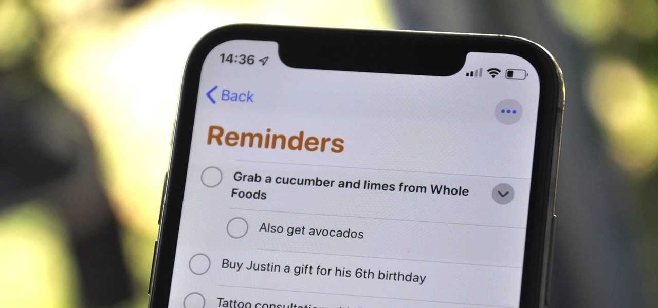 Create Nested Subtasks in iOS 13's Reminders App for More Organized To-Do Lists