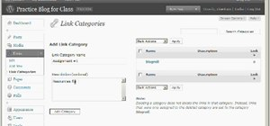 Add, change links and add link categories in WordPress