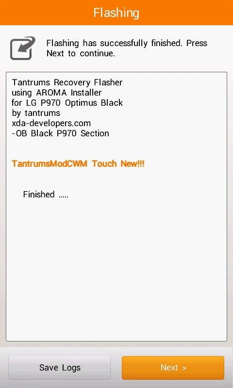 How to Remove the Tantrums Mod CWM on LG Optimus P970 Smartphones