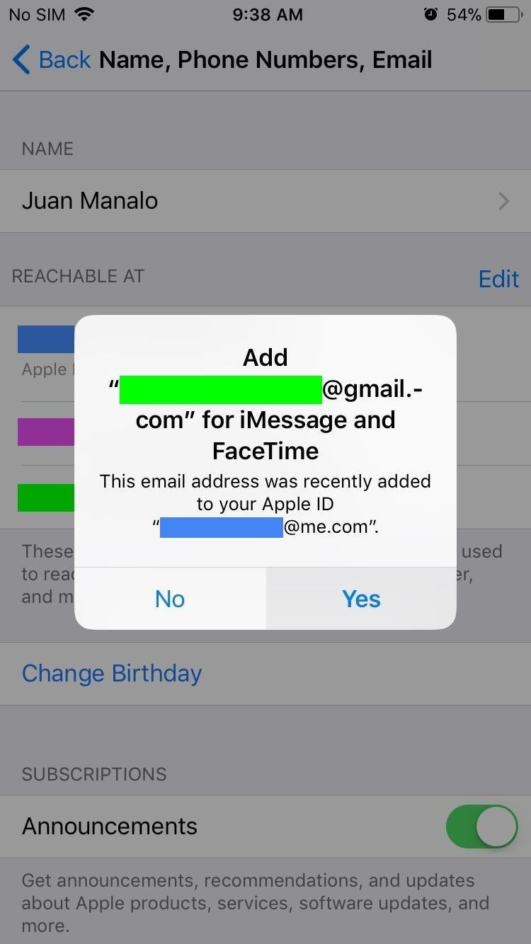 How to Add Additional Emails to FaceTime & Messages in iOS 11
