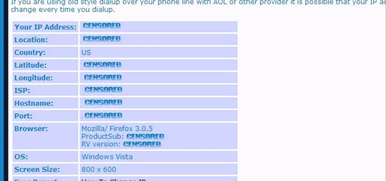 how to find ip adress of facebook page