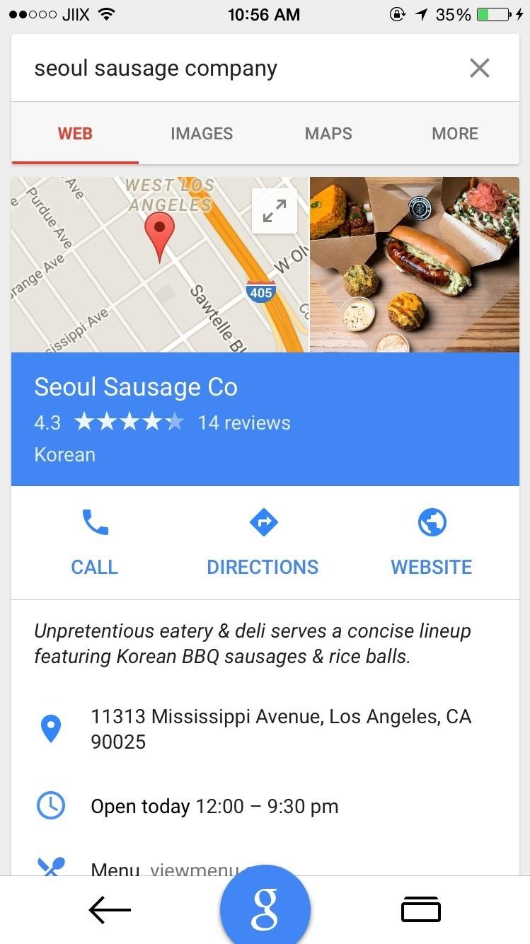 Google Search for iOS Updated with Material Design, In-App Maps, & More