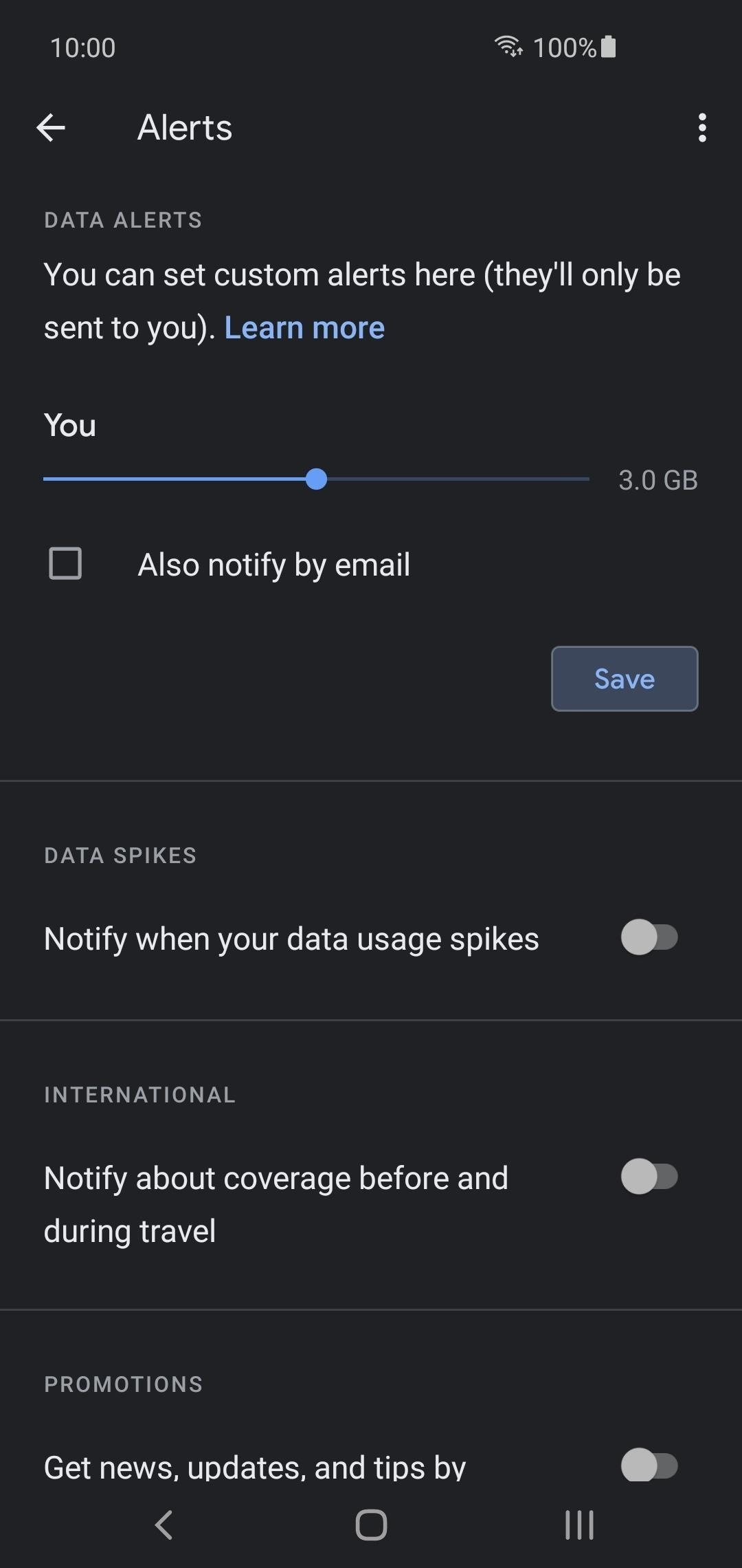 How to Set Data Limit Alerts on Google Fi