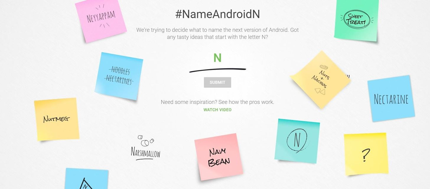 For the First Time, You Can Help Name Android