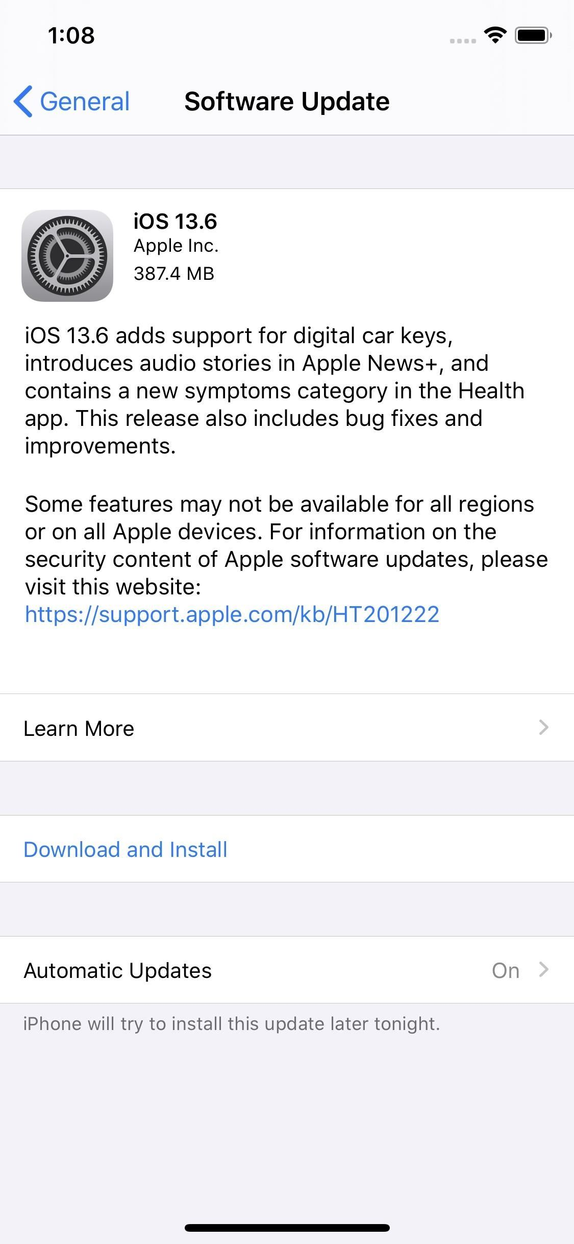 Apple's iOS 13.6 for iPhone Includes Apple News Updates, a Symptom Tracker in Health, CarKey Support & More