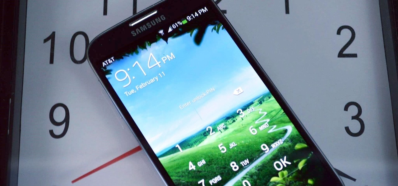 Set Your PIN Unlock to Auto-Sync with the Current Time on Your Galaxy S4