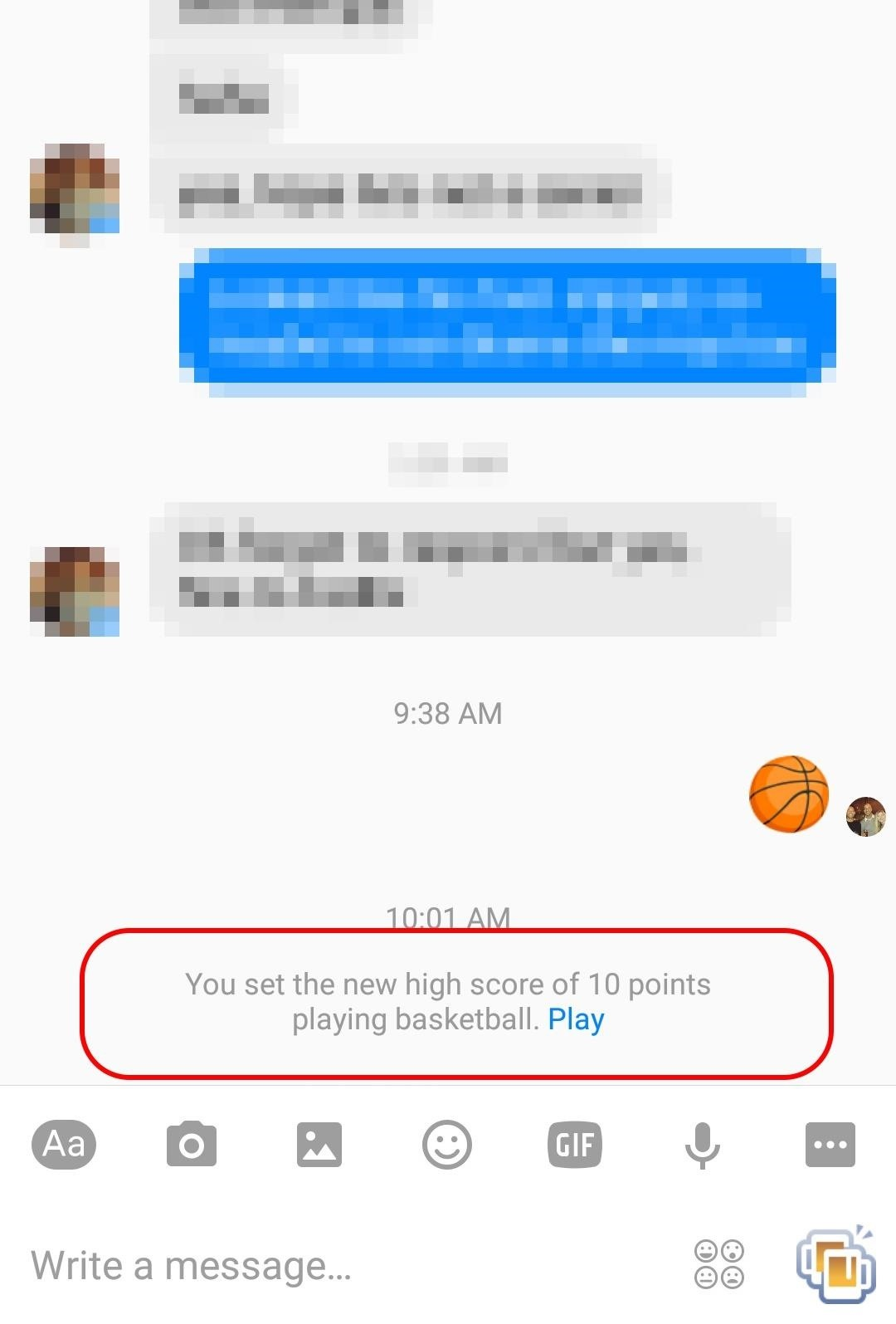 How to Play the Secret Basketball Game in Facebook Messenger