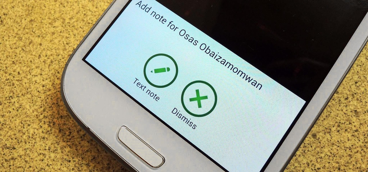 Instantly Create Important Reminder Notes After Every Phone Call on Your Galaxy S3