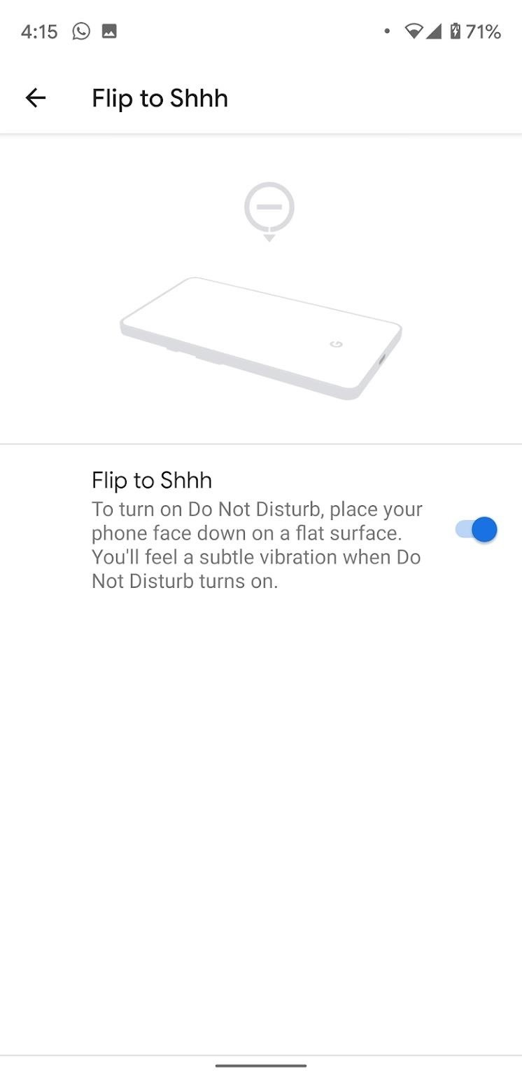 Enable 'Flip to Shhh' on Your Google Pixel & Quickly Turn on Do Not Disturb Mode
