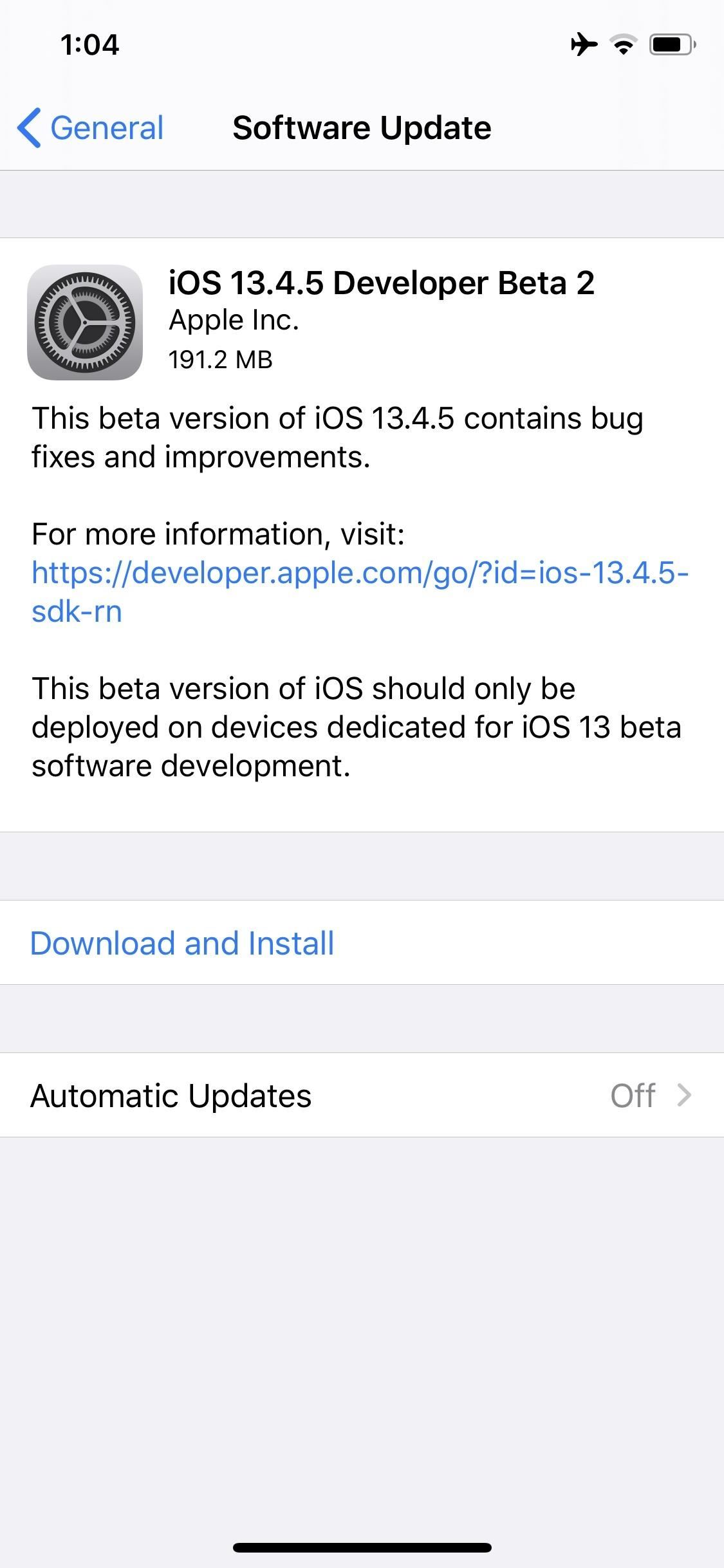 Apple Releases iOS 13.4.5 Developer Beta 2 for iPhone Today
