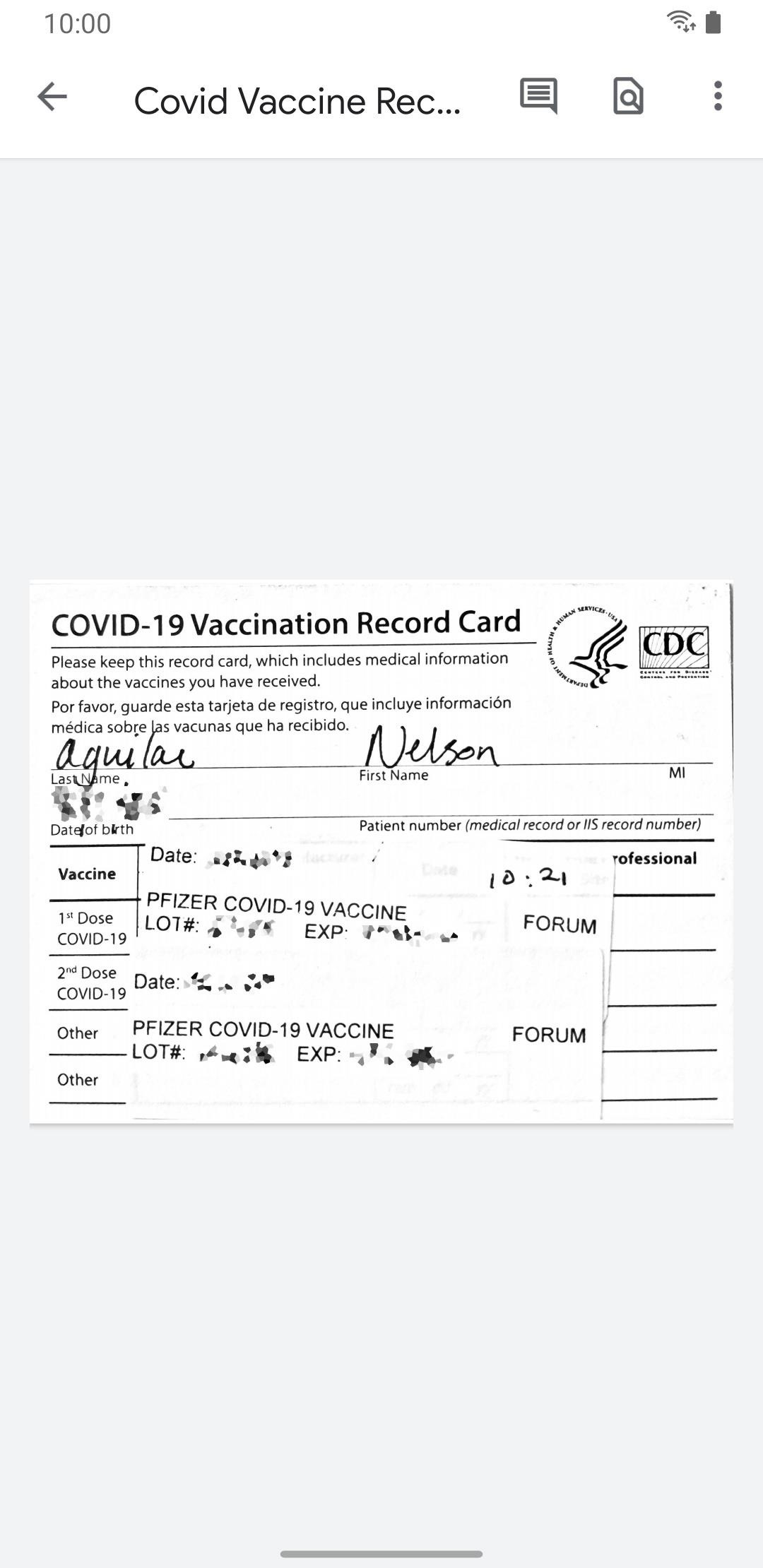 Digitize Your COVID-19 Vaccination Record Card on Your Phone for Easy Access Anywhere