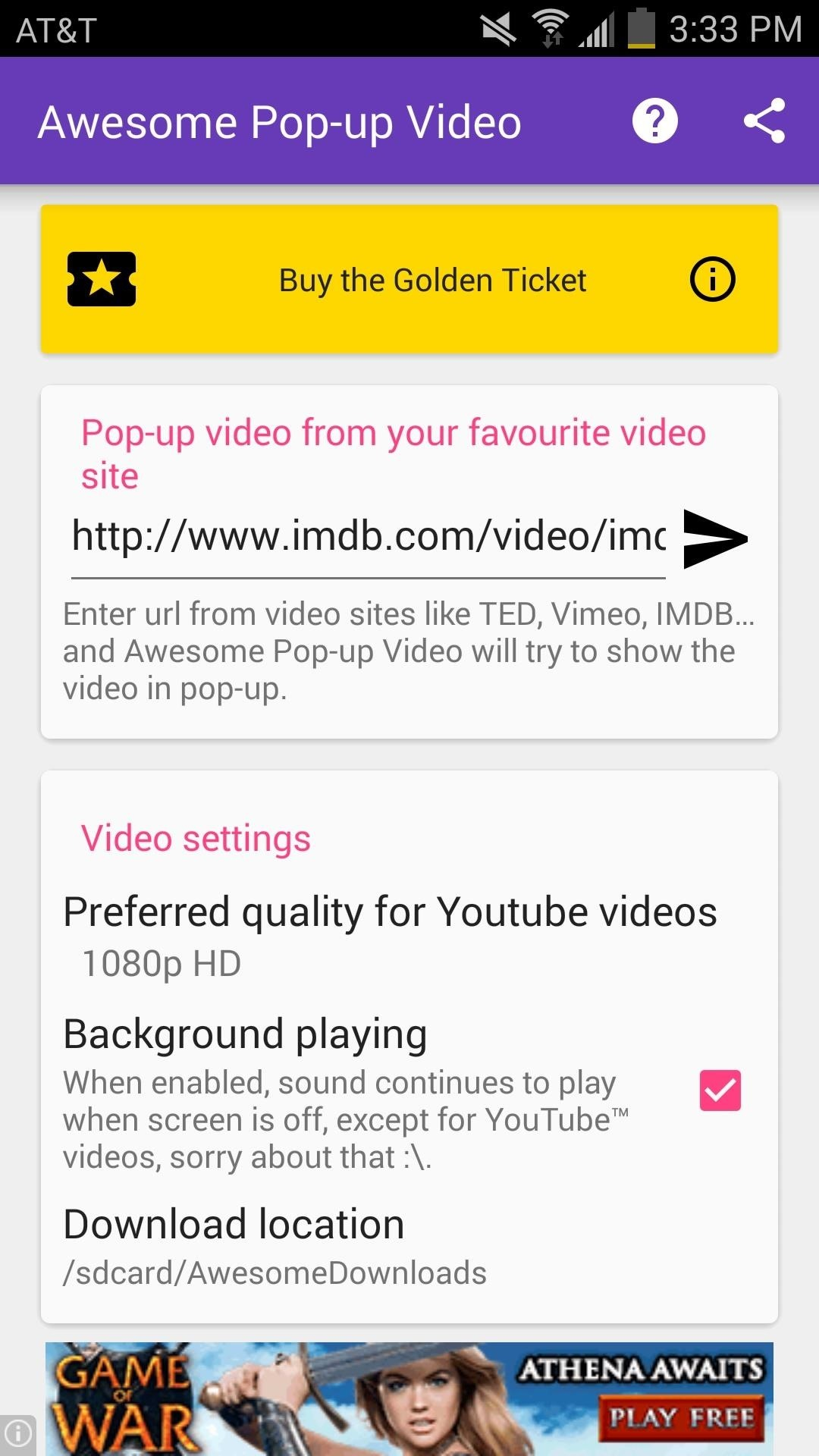 Float Videos from Facebook, YouTube, Vimeo, & Other Media Sites Anywhere on Android