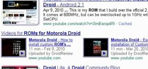 Find and download custom roms for a Motorola Droid