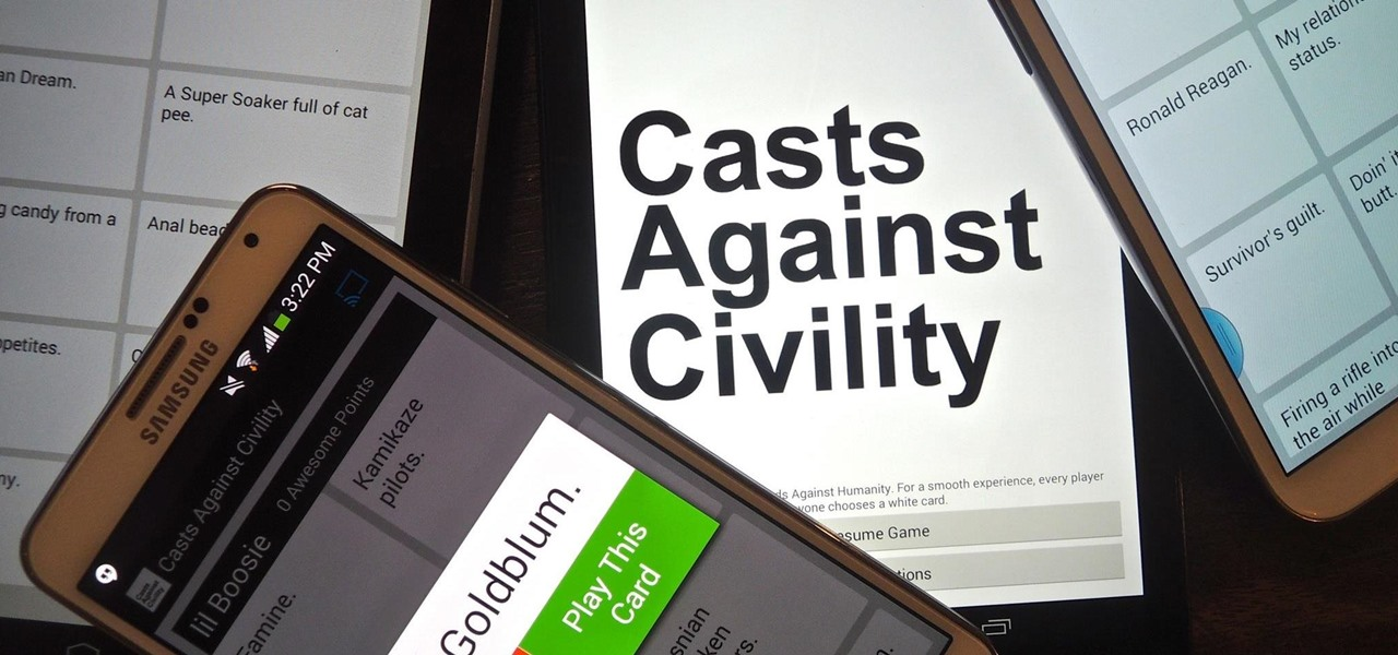 "(Updated) The Extremely Vulgar (& Hilarious) ""Cards Against Humanity"" Game Has Been Cloned for Chromecast & Android"