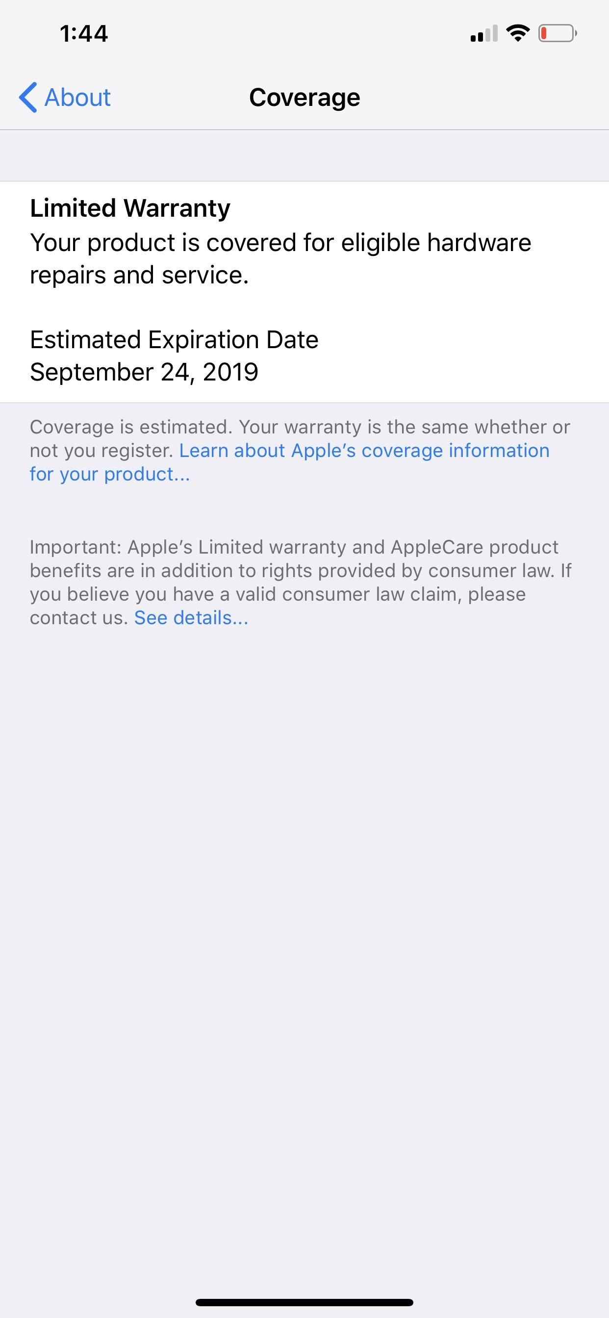 Apple's iOS 12.2 Public Beta 6 Available for iPhone, Adds New Warranty & AppleCare+ Status in Settings