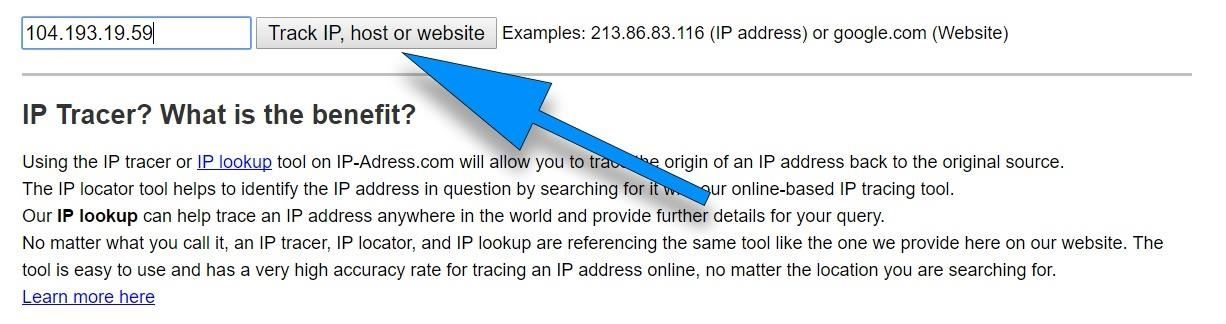 How to hack the ip address