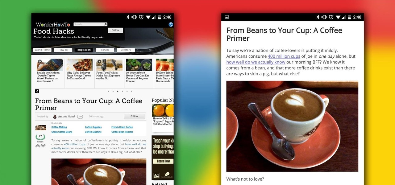 "Enable Chrome's Hidden ""Reader Mode"" on Your Android"
