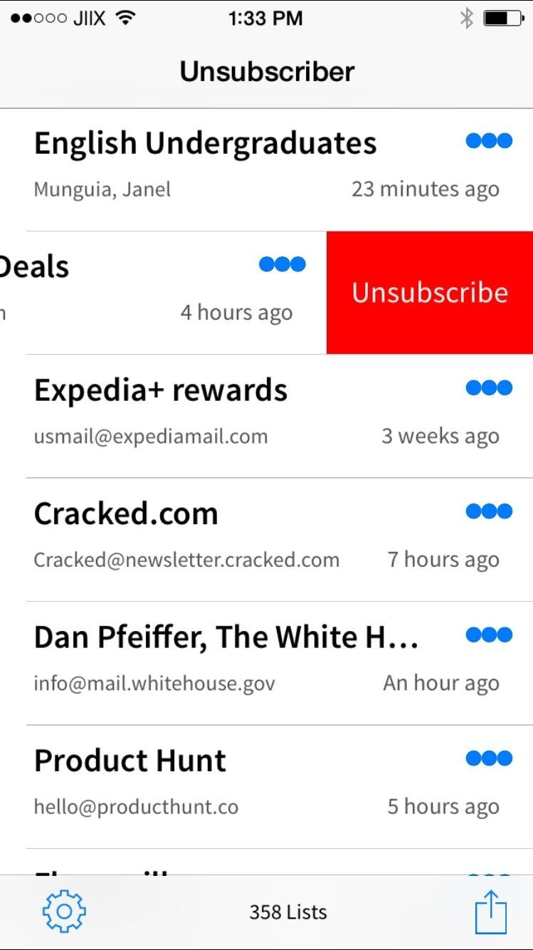 Unsubscriber: The Easiest Way to Get Rid of Annoying Emails in Gmail on Your iPhone