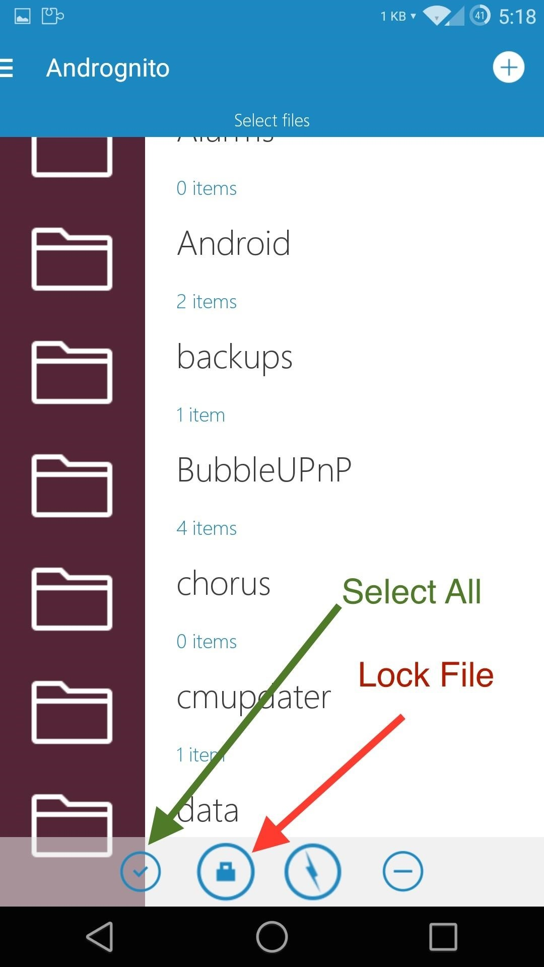 Encrypt & Hide Sensitive Files on Android with Andrognito