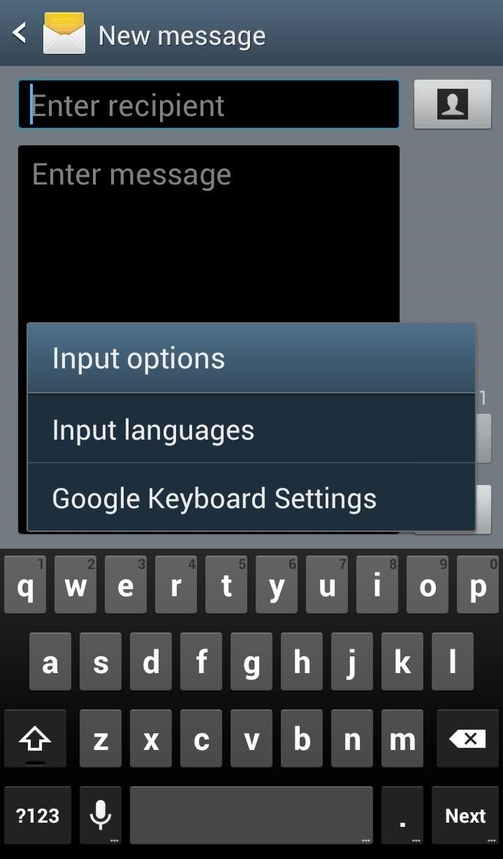 Save Time Typing Your Email Address Out Using a Keyboard Shortcut on Your Galaxy S3