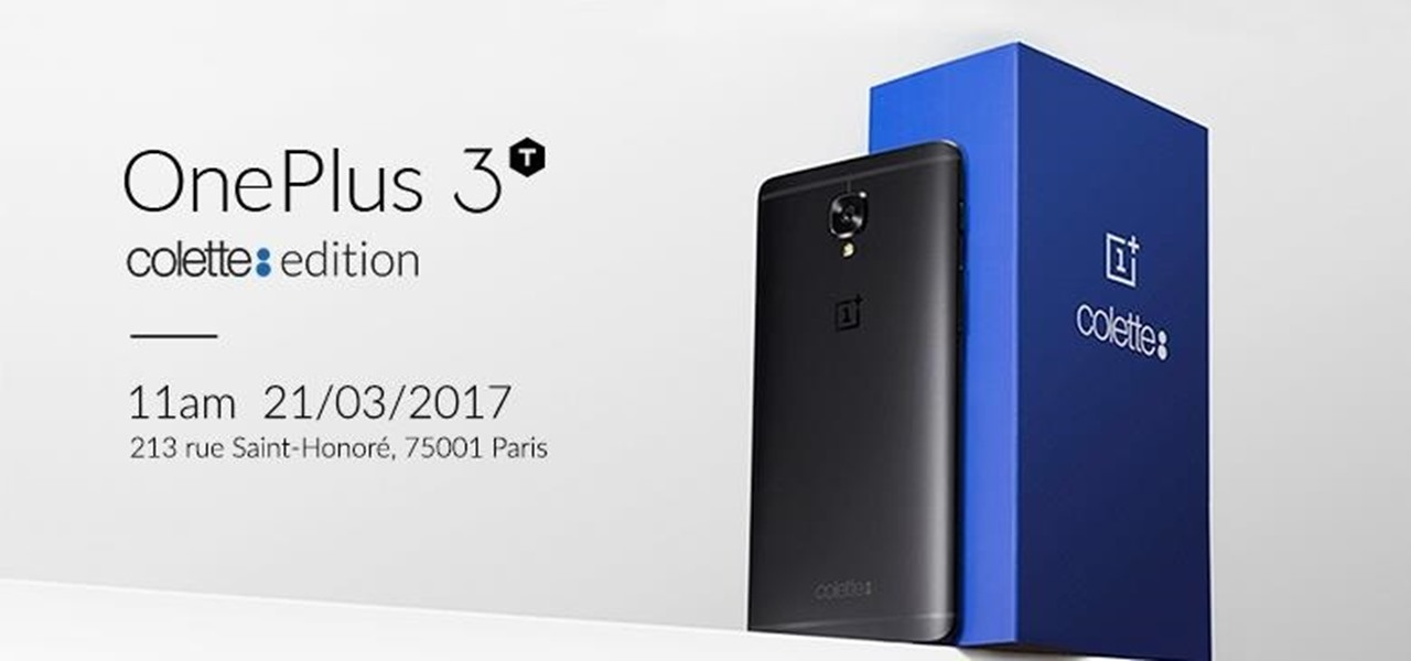 OnePlus Introduces the 3T Colette Edition in Black with 128 GB of Storage