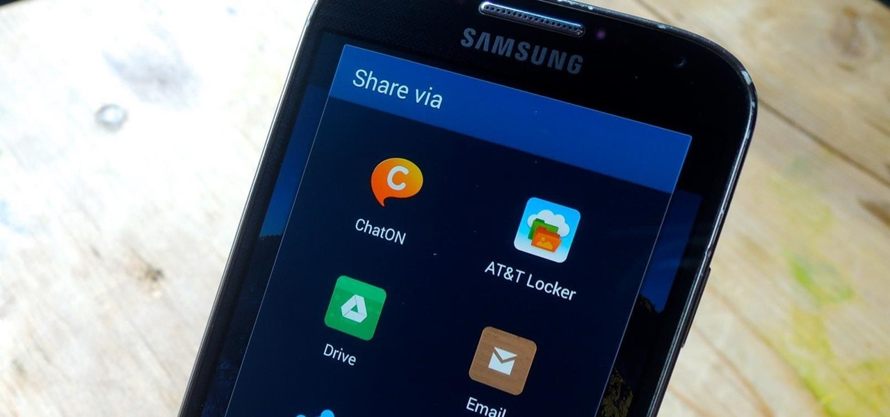 "Customize Your Android's ""Share via"" & ""Open with"" List for Less App Clutter"
