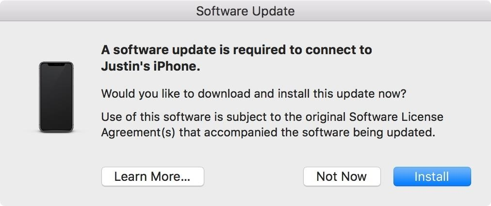 How to Fix the 'Software Update Is Required to Connect to Your