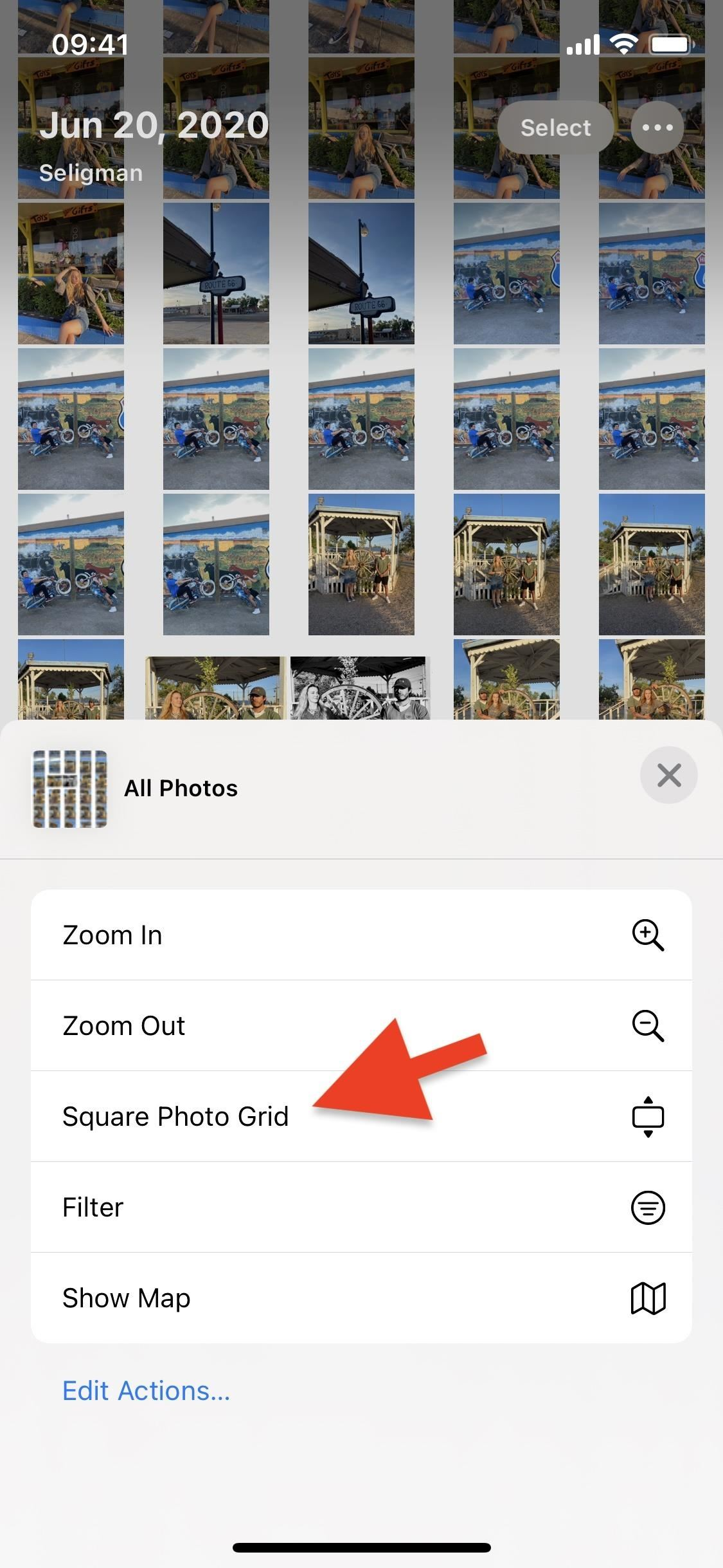 Show Images & Videos in Their Correct Aspect Ratio & Orientation When Viewing a Grid in Photos