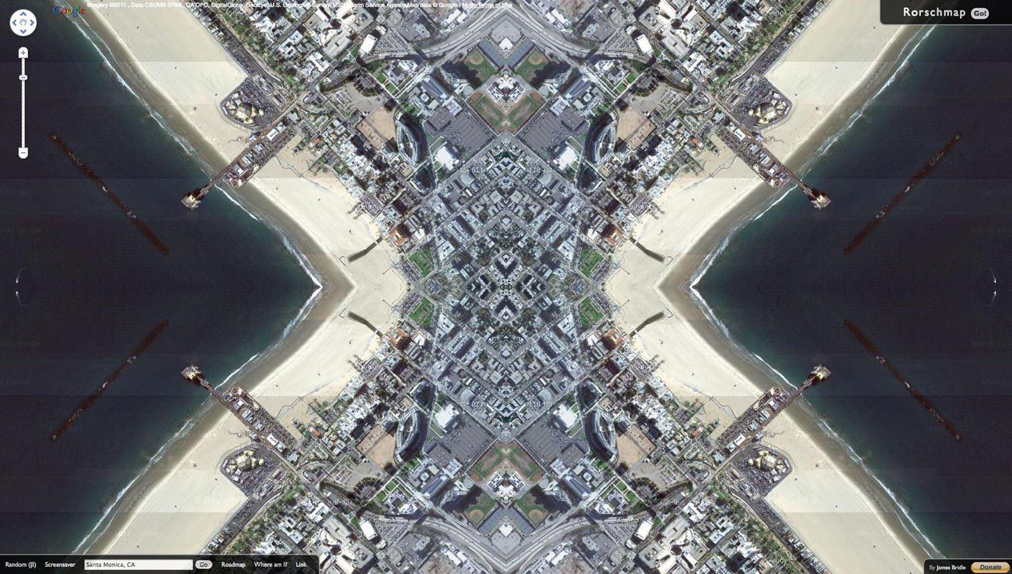 Turn Google Maps into a Trippy Kaleidoscope with Rorschmap