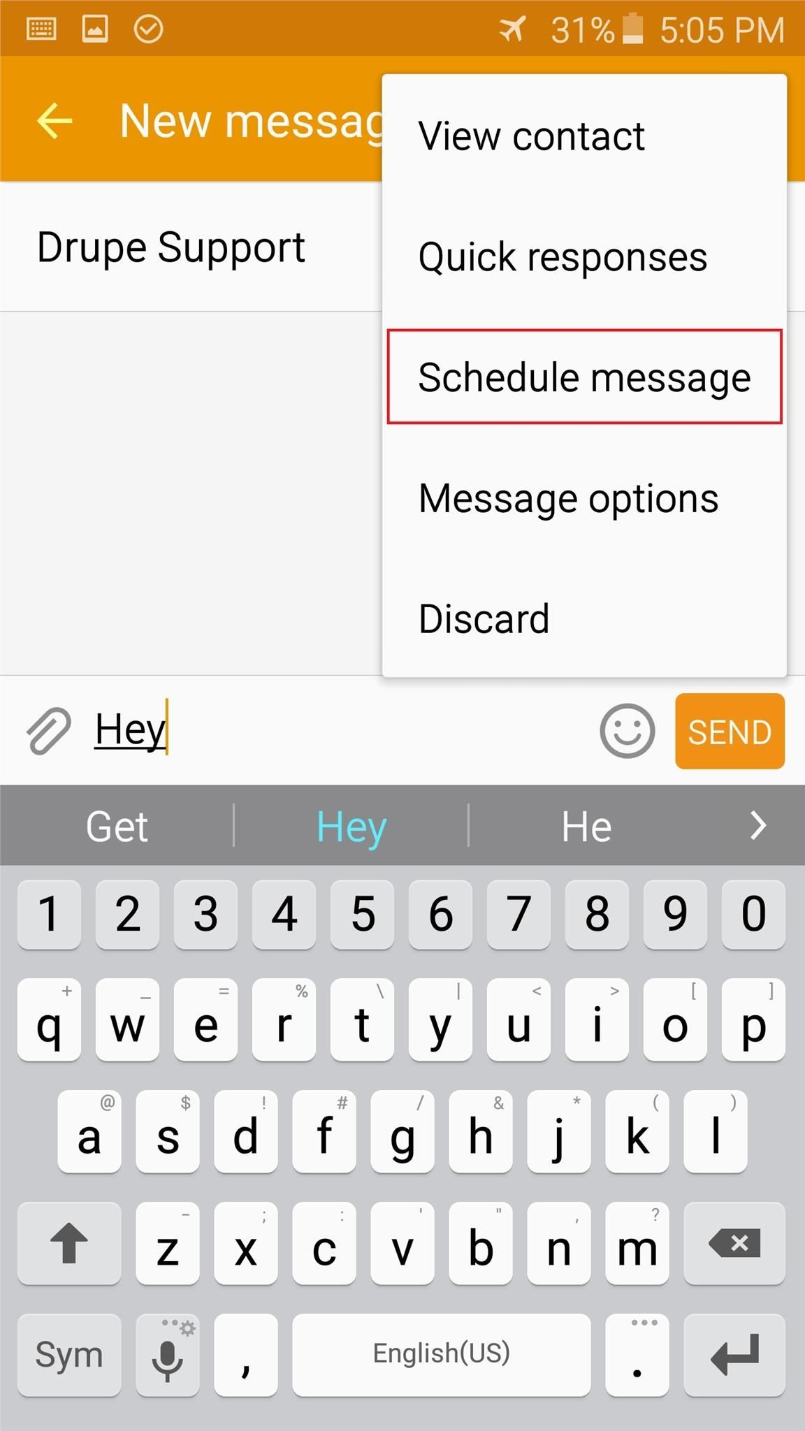 Mute Shutter Sounds, Schedule Texts, Disable Status Bar Icons