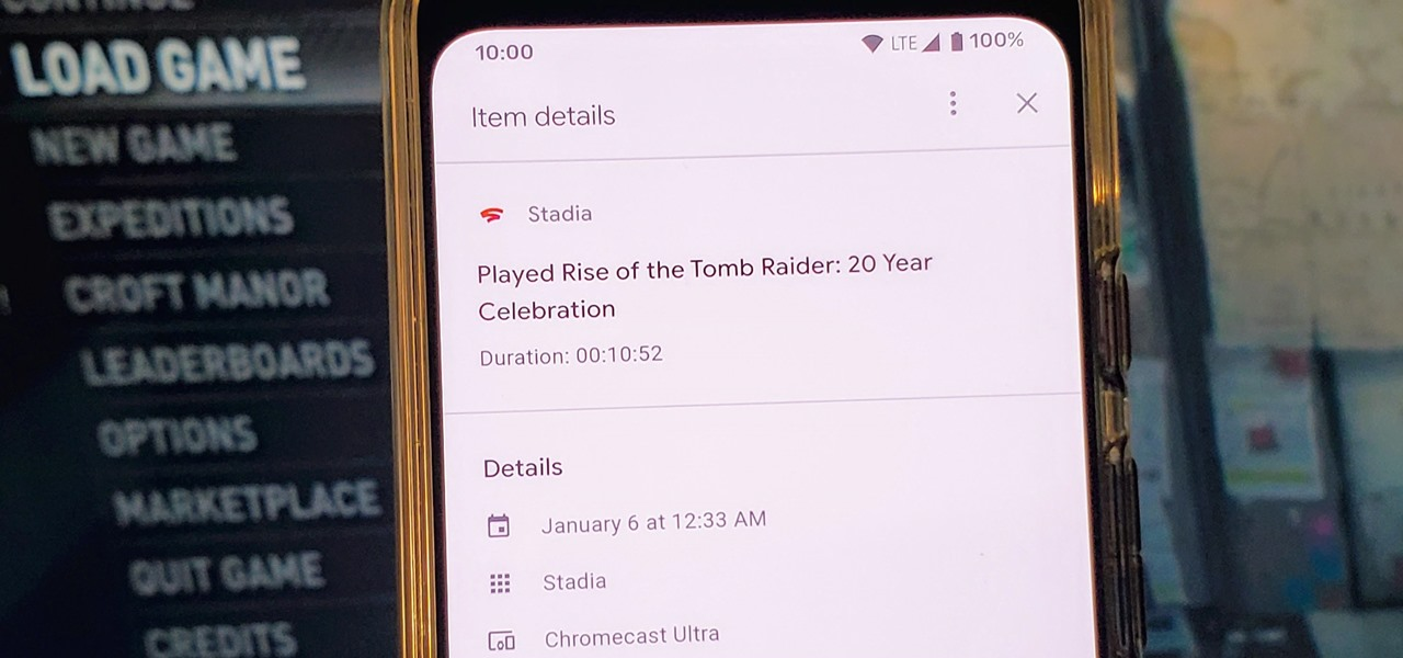 View Your Stadia Gaming Sessions from Your Google Account History