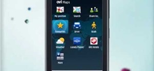 Save favorite destinations when using Ovi Maps on a Nokia C5