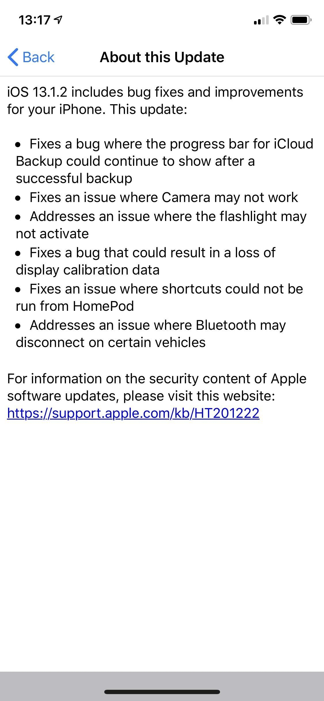 Apple Just Released iOS 13.1.2, Includes Fixes for Camera, Flashlight, iCloud Backup & More