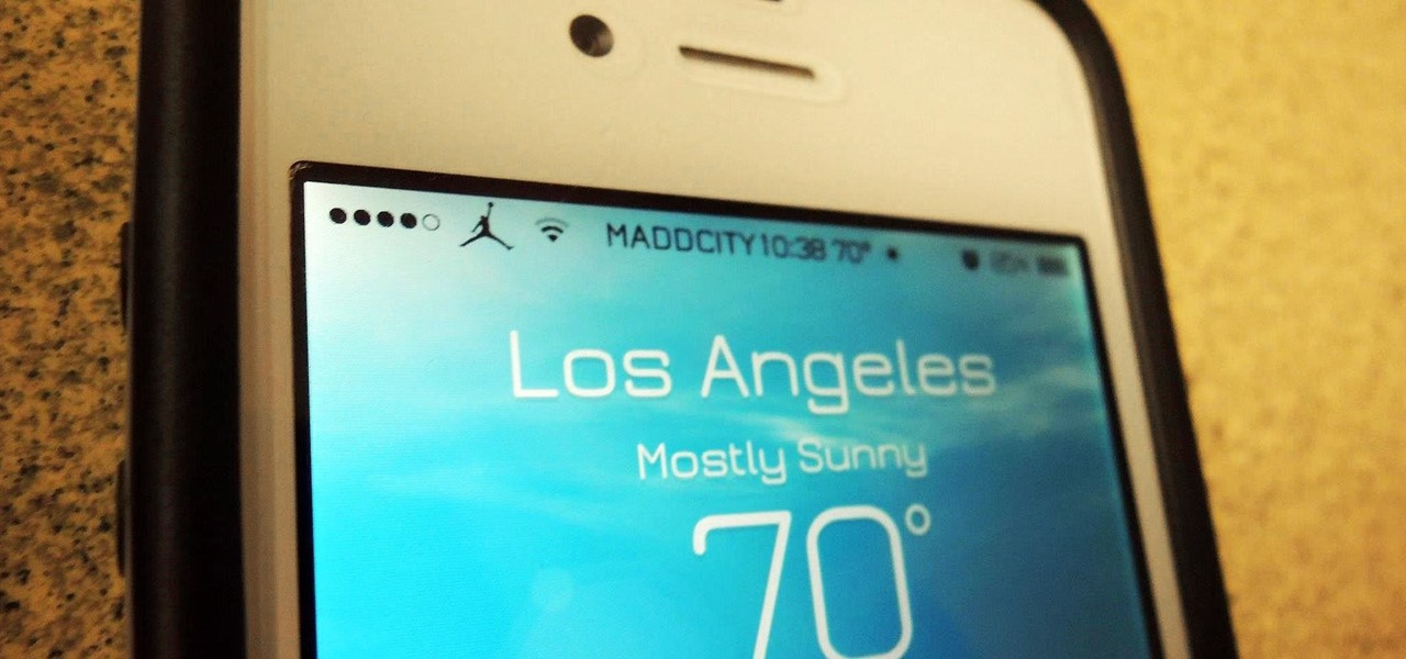 Add the Local Weather to Your iPhone's Status Bar for a Quick Glance Forecast
