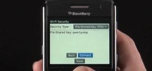 Manually add a WiFi network on a BlackBerry Bold 9650 smartphone