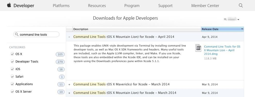 How to Install the Command Line Developer Tools Without Xcode