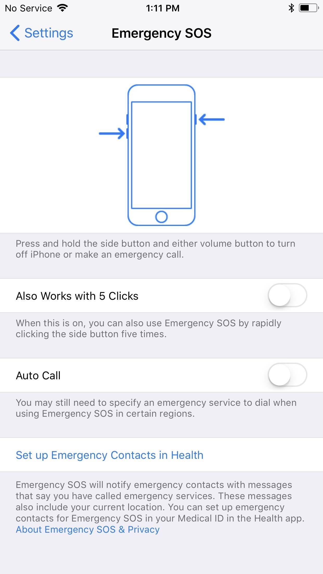 How to Use the Emergency SOS Shortcut on Your iPhone in iOS 11