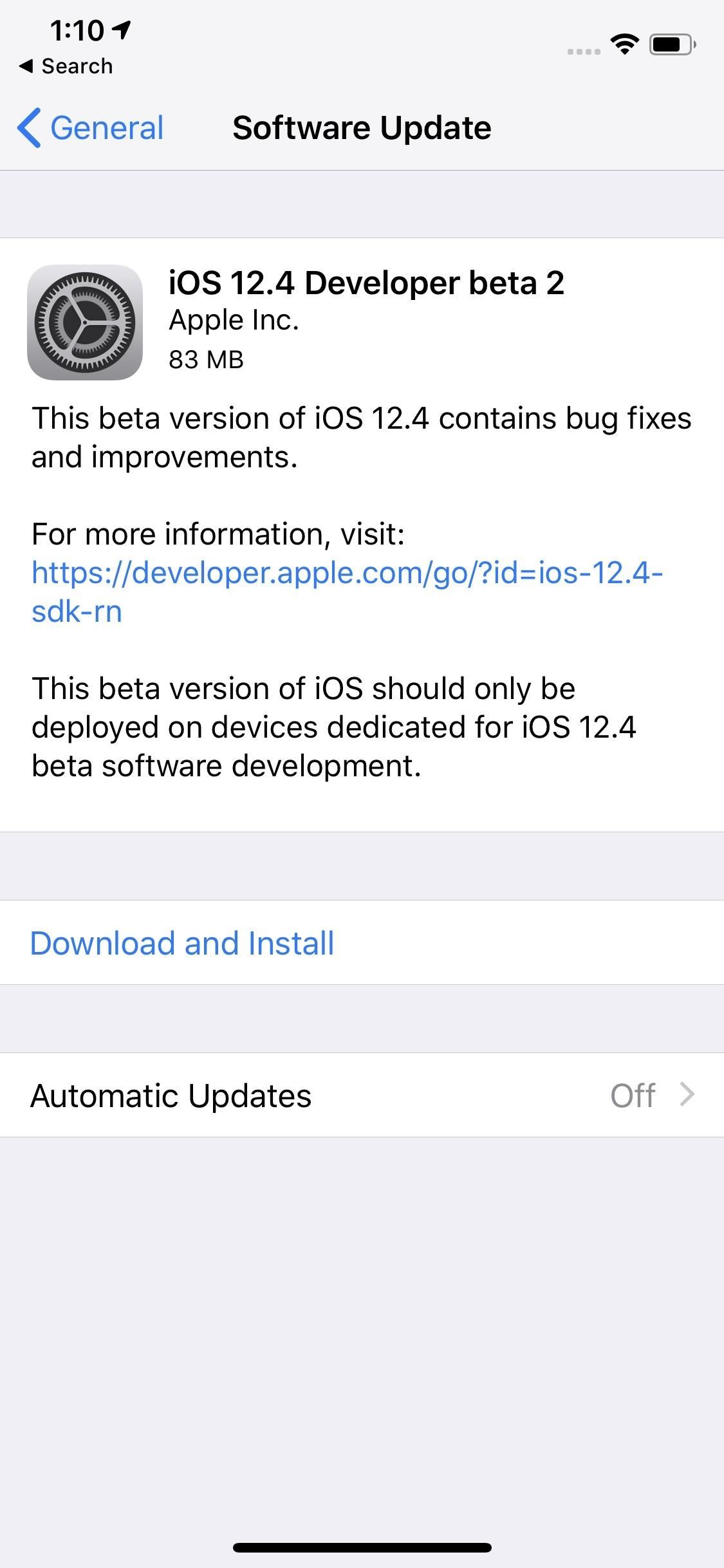 Apple Releases Second iOS 12.4 Beta for iPhone to Developers Today