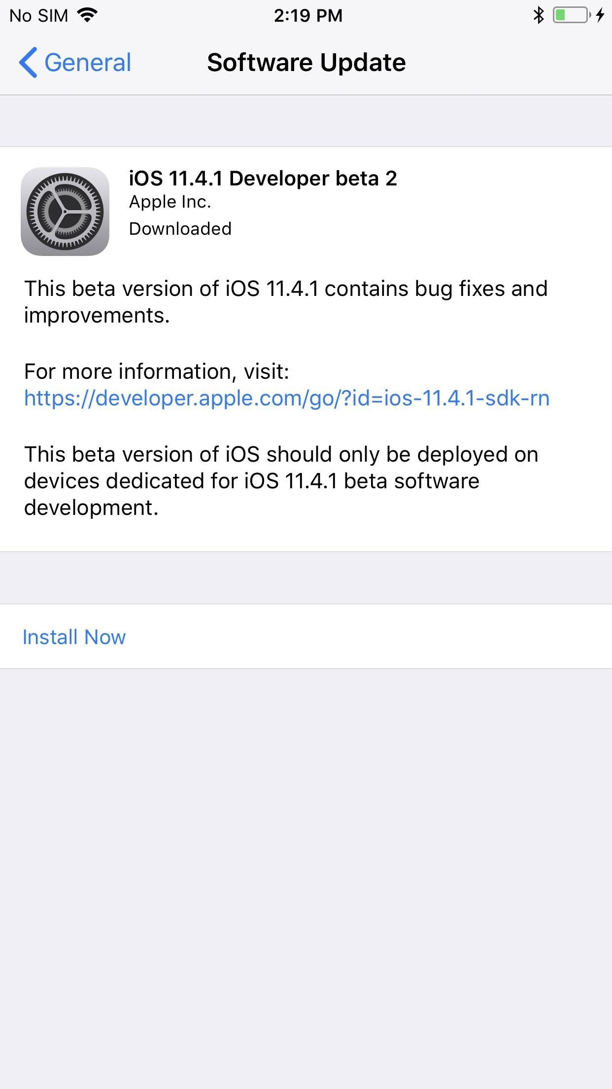 iOS 11.4.1 beta 2 released for iPhones without real bug fixes or improvements