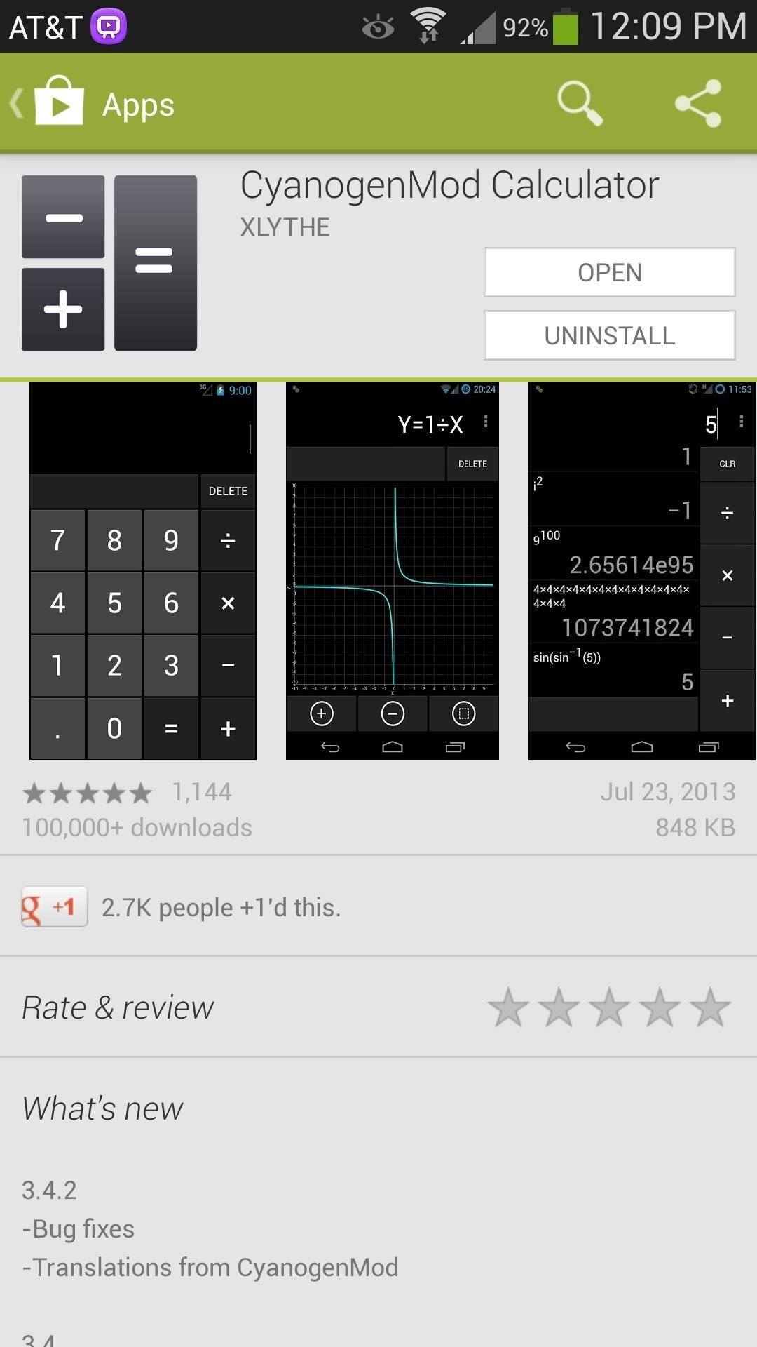 How to Get CyanogenMod's Sleek Graphing Calculator & Widget on Your Samsung Galaxy S4 Without Rooting