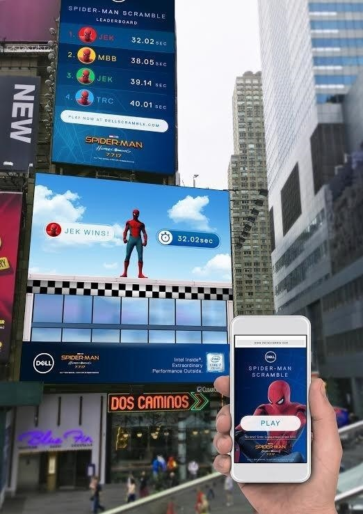 This Live Game in Times Square Will Make Your Spidey Senses Tingle
