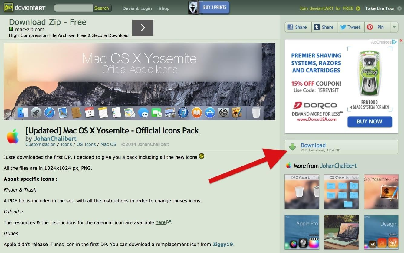 How to Make Your Mac's Dock & App Icons Look Like Yosemite's « Mac