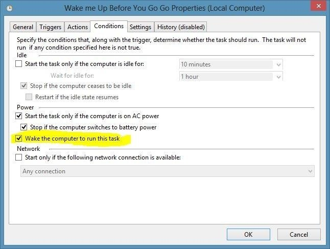 How to Get Your Windows 8 PC to Automatically Wake from Sleep Whenever You Want