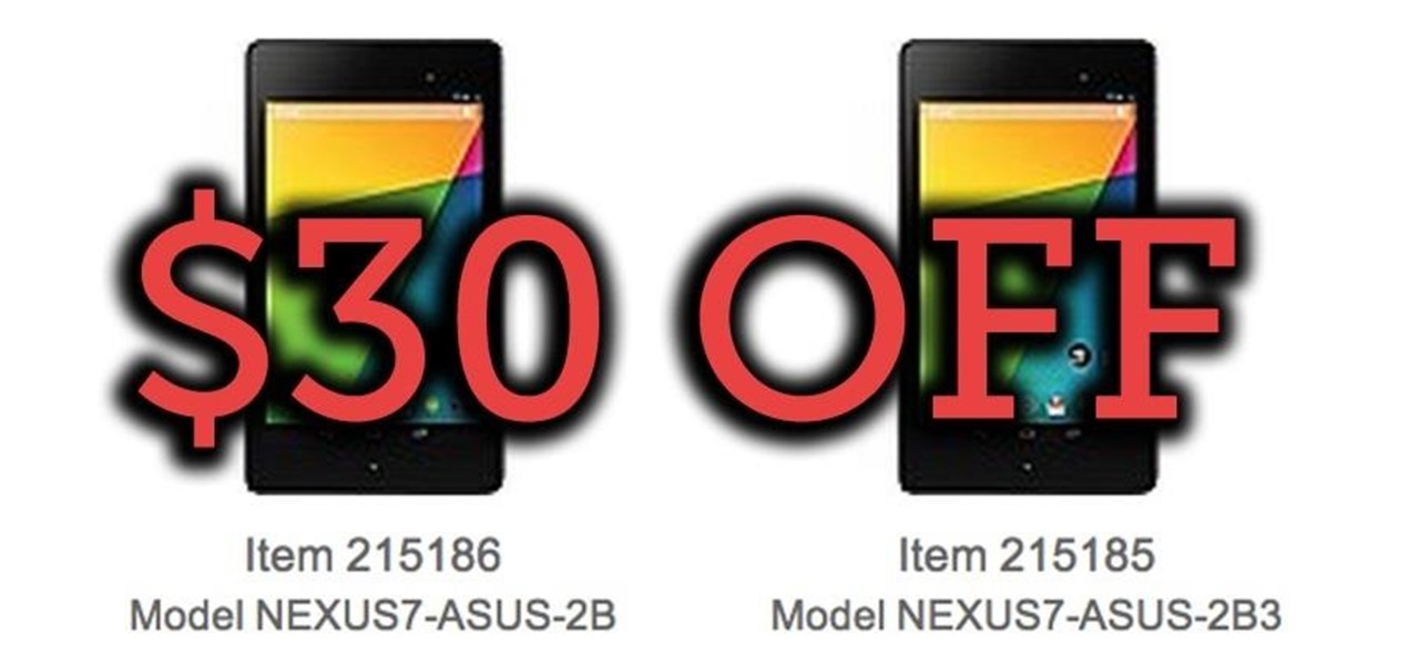 Get $30 Off the New Nexus 7 Now Until Sunday, 7/28