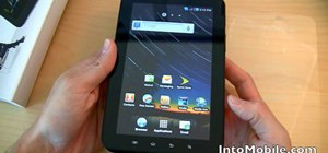 Use the hardware features on the Sprint Samsung Galaxy Tab Android tablet