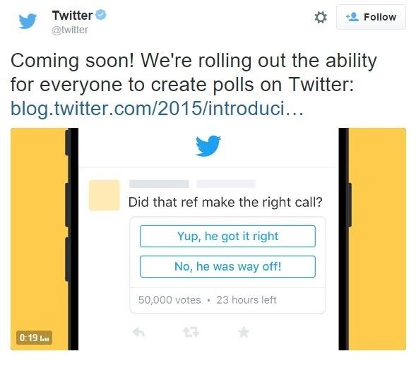 Twitter Announces Polls & New Publishing Tools for Users