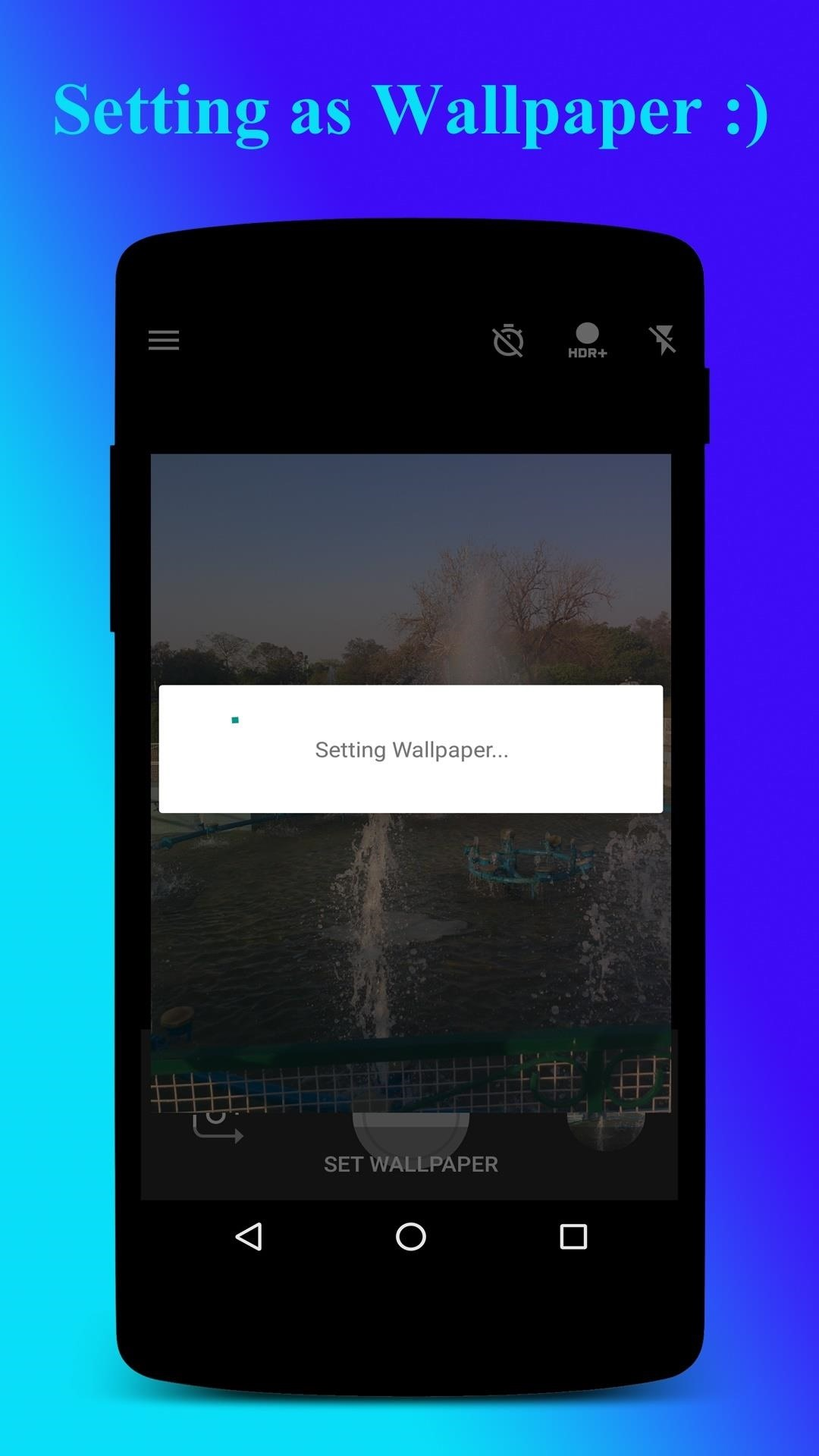 if both crop and ask before set is off then the picture directly sets as wallpaper there is no pop upnotification or cropping screen