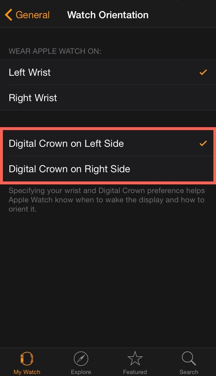How to Change the Display Orientation & Digital Crown Position on the Apple Watch