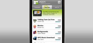 Download apps from the Android Market on a T-Mobile myTouch 4G